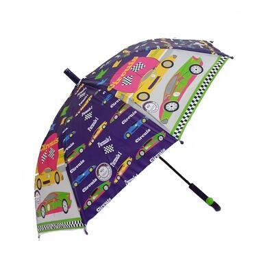 Dětský vystřelovací deštník Tomáš fialový - 2