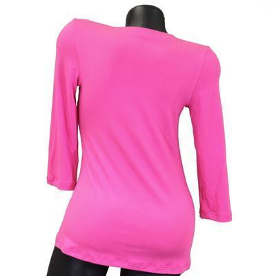 Růžové tričko s midi rukávem Kristin - 2