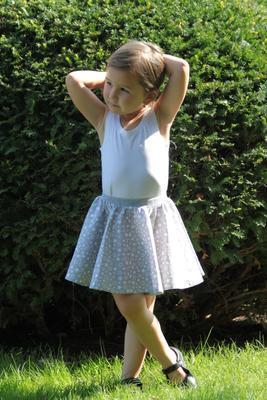 Šedý set sukní pro maminku a dceru Scarlet s hvězdičkami - 2