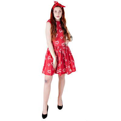 Červené šaty Florenc se srdíčky - 2