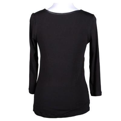 Černé tričko s midi rukávem Miranda - 2