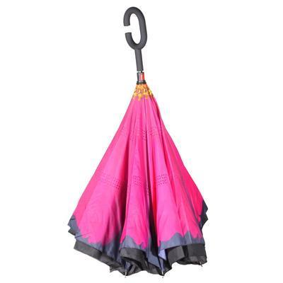 Obrácený deštník Bloss růžový - 2