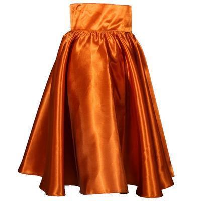 Měděná saténová sukně s pevným pasem Kimberly - 2