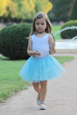 Dívčí modrá tutu sukně Lott - 2