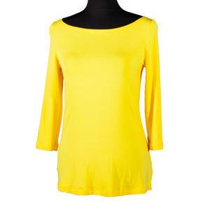 Žluté tričko s midi rukávem Vanesa - 2/2