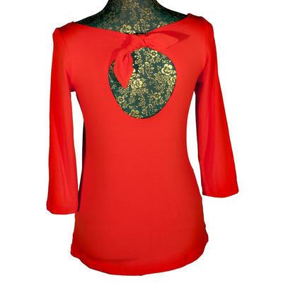 Červené tričko s midi rukávem Vanesa - 2