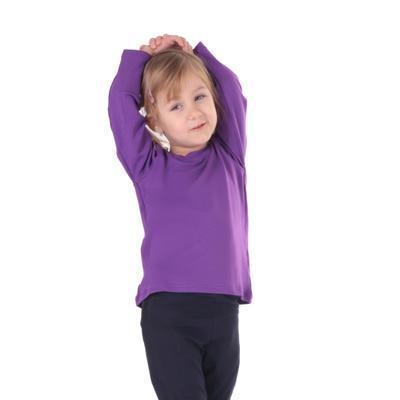 Dětské tričko dlouhý rukáv Marlen fialové od 122-152 - 2