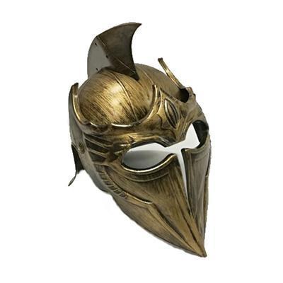 Dětská plastová rytířská helma Marcus zlatá - 2