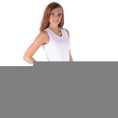 Bílé tričko s širokými ramínky Tamara - 2