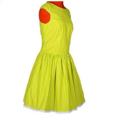 Zelené šaty Elisha s puntíky - 2