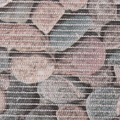 Gumová koupelnová rohož 65cm Kameny šedé - 2