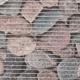 Gumová koupelnová rohož 65cm Kameny šedé - 2/2