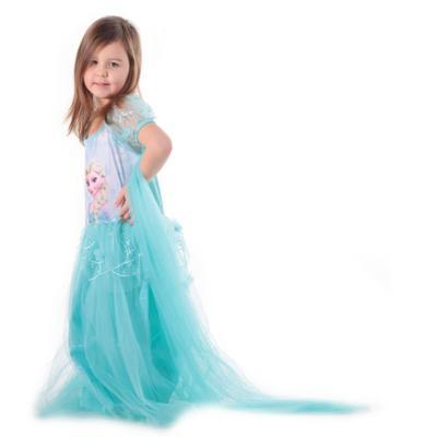 Karnevalový kostým princezna Elsa tyrkysový - 2
