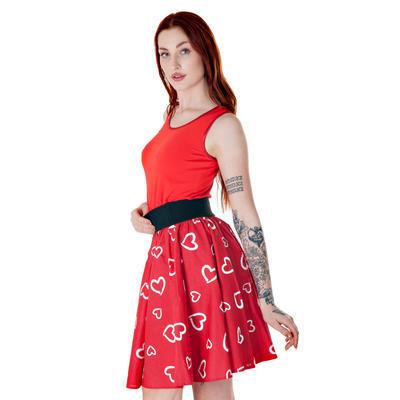 Červené tričko s širokými ramínky Jolana - 2