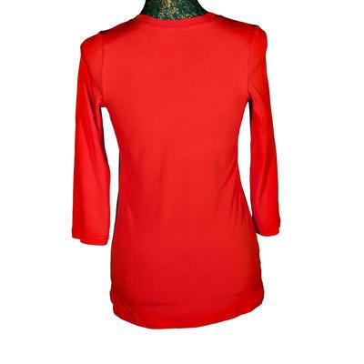 Červené tričko s midi rukávem Kristin - 2