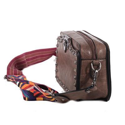 Mini kufříková kabelka Greys tm. hnědá - 2