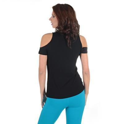 Černé tričko s krátkým rukávem Karin - 2