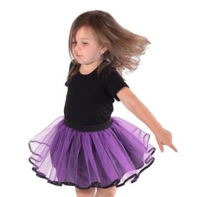Dívčí fialová tutu sukně Nesy - 2