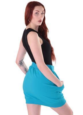 Modrá bavlněná sukně Dominika - 2