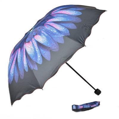 Skladací dámský deštník Simona modrý - 2