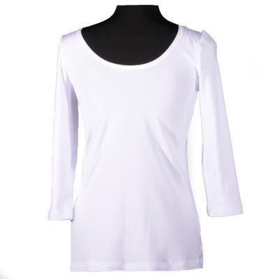 Bílé tričko s midi rukávem Mia - 2