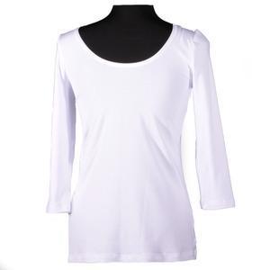 Bílé tričko s midi rukávem Mia - 2/2