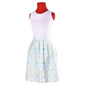 Modrá zavinovací sukně Jenny s motýly - 2/2