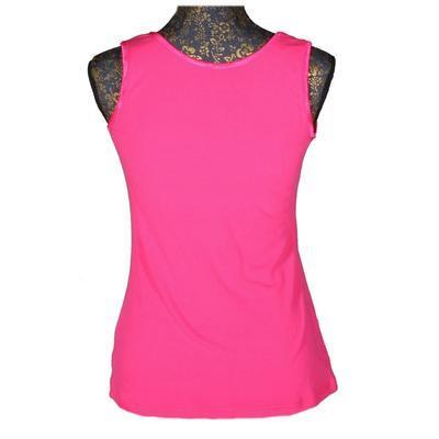 Růžové tričko s širokými ramínky Jolana - 2