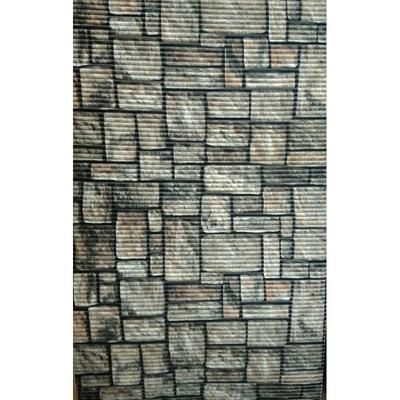 Gumová koupelnová rohož 65cm  Sofie v hnědé barvě - 2