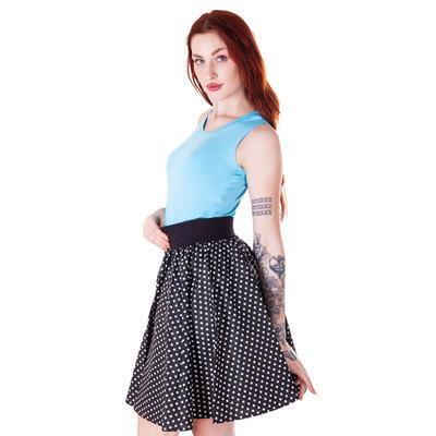 Světle modré tričko s širokými ramínky Amanda - 2