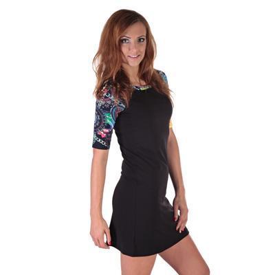 Krátké černé šaty Aimee - 2
