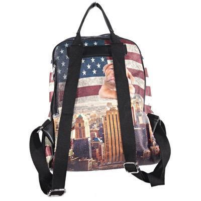 Stylový batoh Natálie motiv Amerika 2A - 2