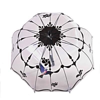 Průhledný deštník Luky černý - 2