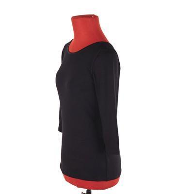 Luxusní dámské tričko s 3/4 rukávem Mia černé - 2