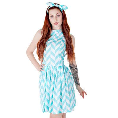 Tyrkysové šaty Bethany - 2