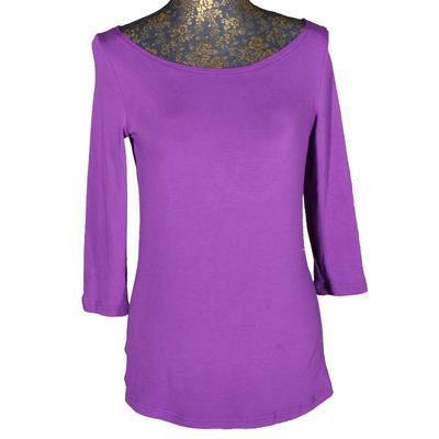 Fialové tričko s midi rukávem Vanesa - 2