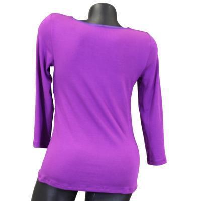Fialové tričko s midi rukávem Miranda  - 2