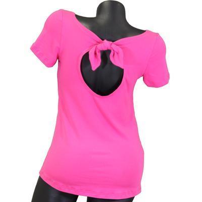 Růžové tričko s krátkým rukávem Celestina - 2