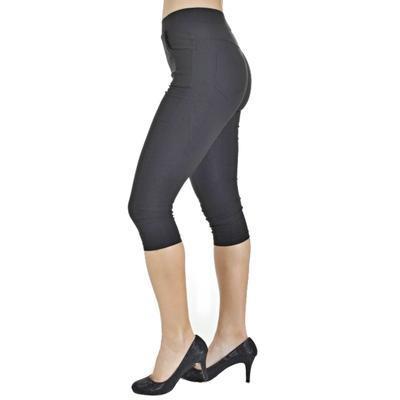 Kalhotové legíny Megan černé - 2