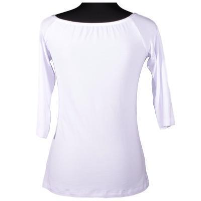 Bílé tričko s midi rukávem Klaudie - 2