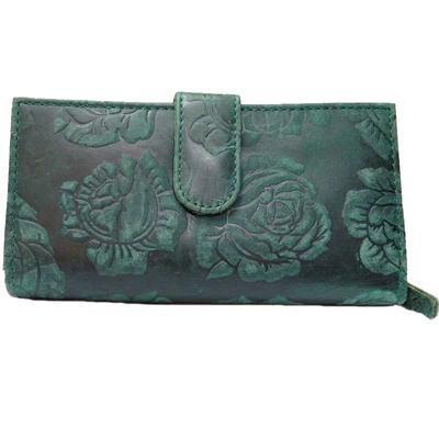 Dámská luxusní kožená peněženka Thea zelená - 2