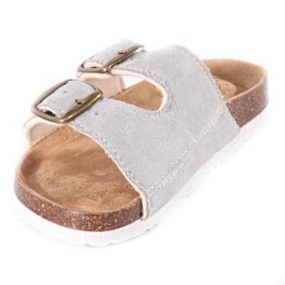 Dětské korkové pantofle Alex šedé - 2
