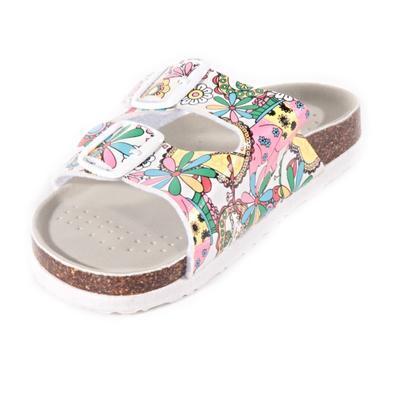 Dívčí květované pantofle Flover bílé - 2