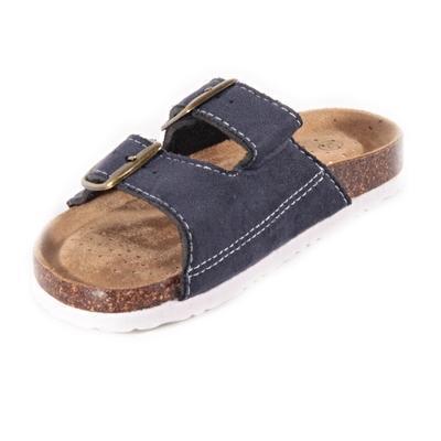 Dětské korkové pantofle Alex modré - 2