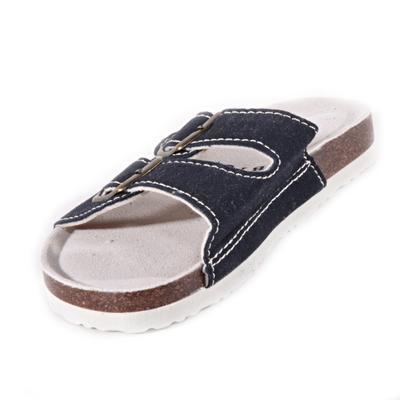 Páskové korkové pantofle Simba tmavě modré - 2