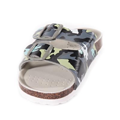 Dětské pantofle Army zelené - 2