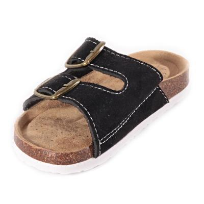 Dětské korkové pantofle Alex černé - 2