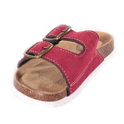 Dětské korkové pantofle Alex červené - 2