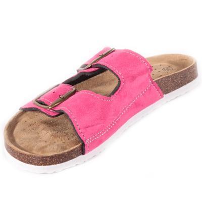 Páskové korkové pantofle Alice tmavě růžové - 2