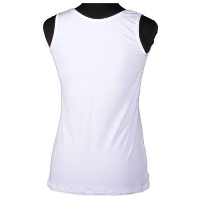 Bílé tričko s širokými ramínky Jolana - 2